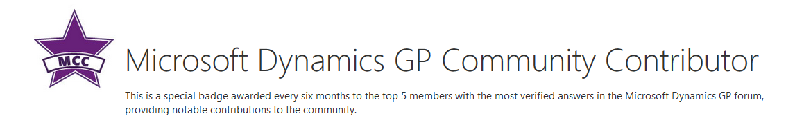 Microsoft Community Contributor Member of The Year