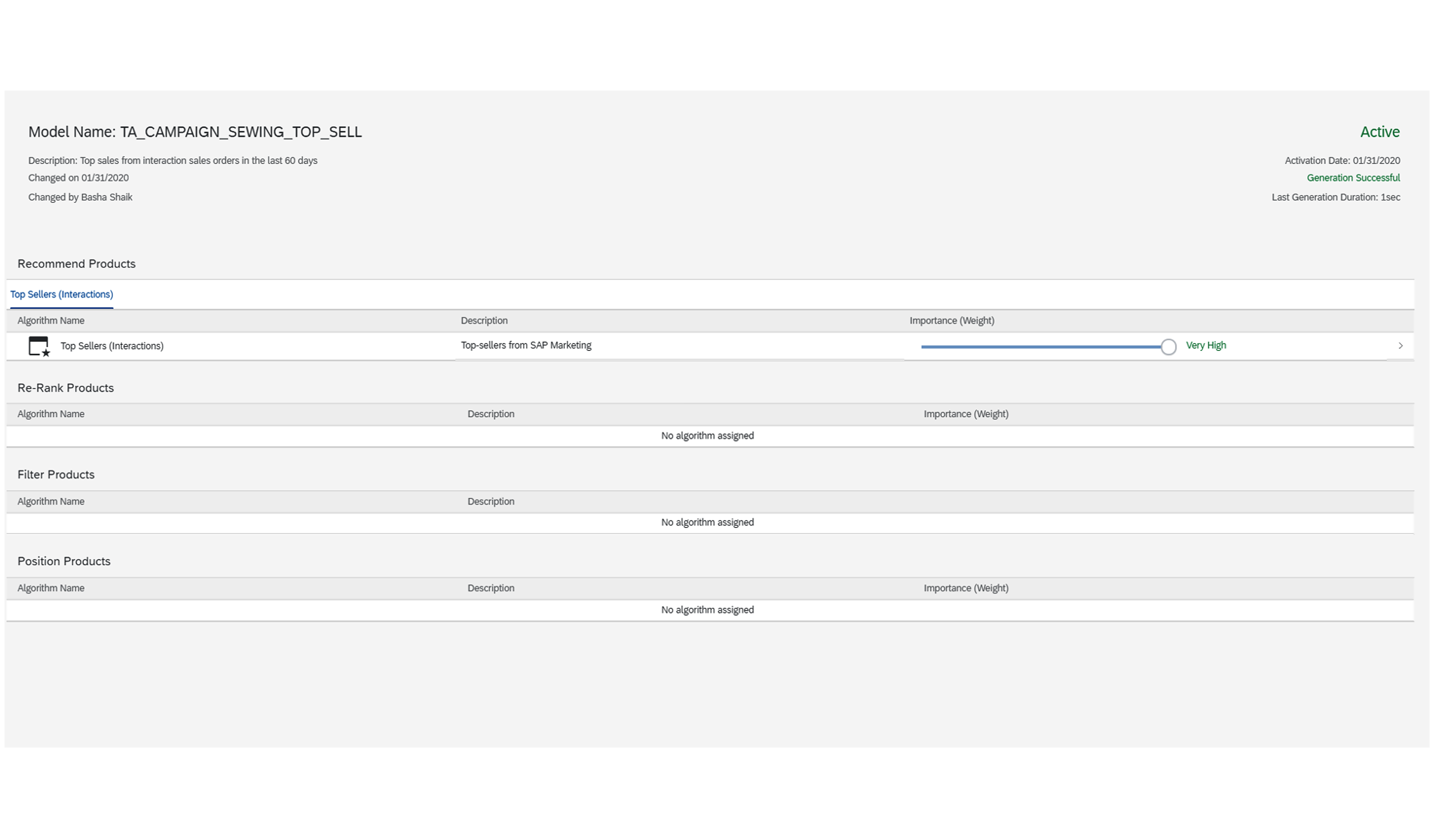 Building Recommendation Models in SAP Marketing Cloud